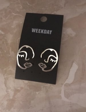 Weekday Silver Earrings silver-colored
