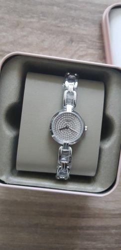 silberne feine Fossil Uhr mit Etikett neu