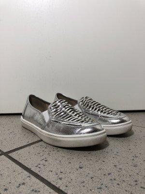 Office Zapatos sin cordones blanco-color plata