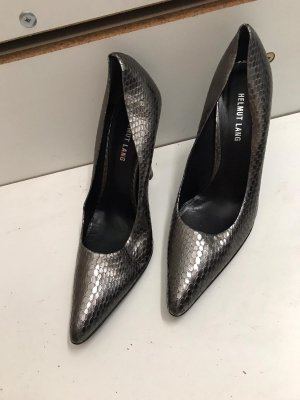 Silberne High Heels