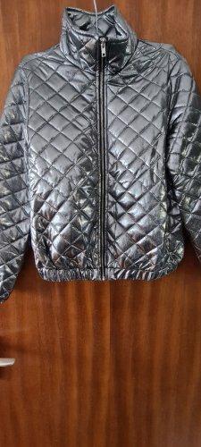 SheIn Kurtka przejściowa biały Tkanina z mieszanych włókien