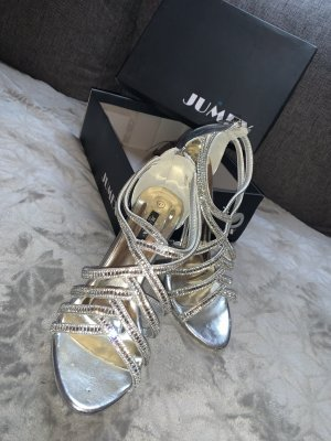 Jumex Strapped pumps silver-colored