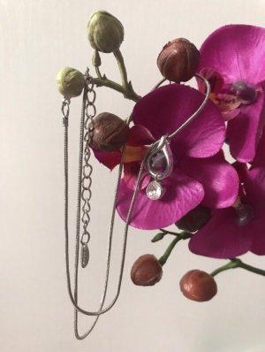 Collana argento-bianco Metallo