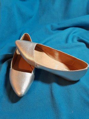 5th Avenue Ballerinas with Toecap silver-colored