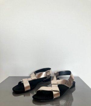 Zara Sandalo romano argento-nero