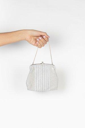 Silberne Mini-Bag