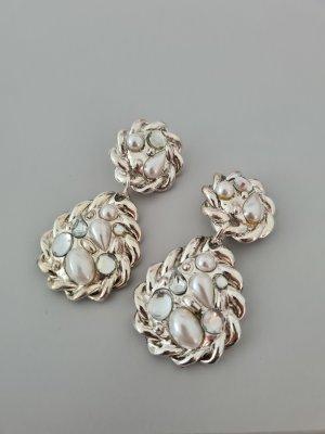 silberne Ohrclips vintage