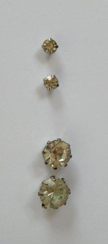 Silberne Ohrringe / Ohrstecker Sett mit Strass