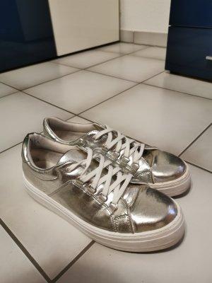 Silberne Plateau sneaker