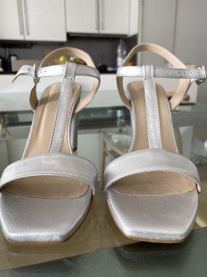 Silberne Sandalen - 1x getragen