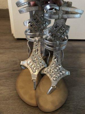 Roman Sandals silver-colored