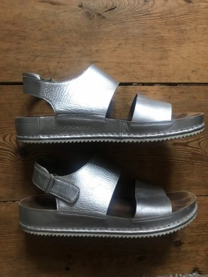 Clarks Comfort Sandals silver-colored