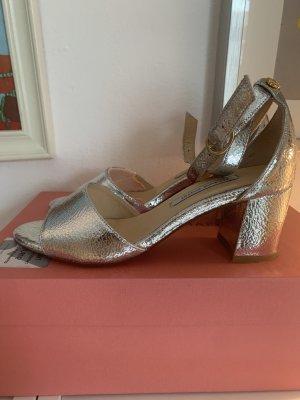 Silberne Sandalen von Fabienne Chapot