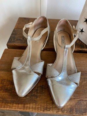 Silberne Sandalen von Kiomi, Gr. 38