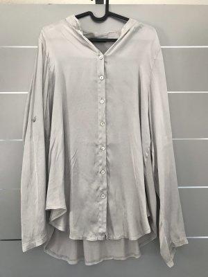 Lindsay Moda Glanzende blouse zilver-lichtgrijs