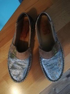 AS98 Pantoffels zilver-grijs-bruin