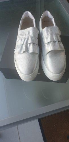 Silberne Slip On Sneaker
