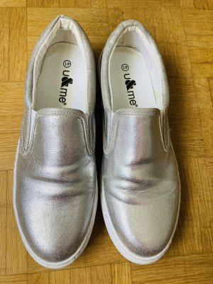 no name Slip-on Sneakers silver-colored