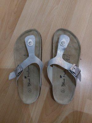 Aldi T-Strap Sandals silver-colored
