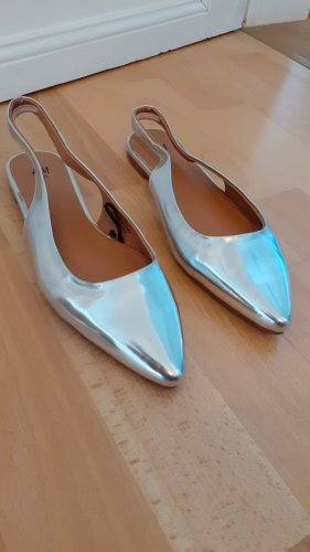 H&M Slingback Ballerinas silver-colored