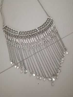 Vintage Statement Necklace silver-colored