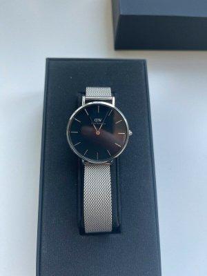 Daniel Wellington Reloj con pulsera metálica color plata-negro tejido mezclado