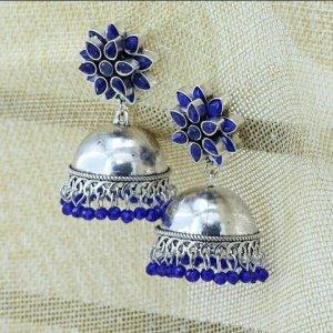 Bollywood Braccialetto in argento argento-blu