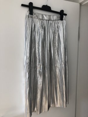 H&M Plisowana spódnica srebrny