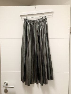 NA-KD Plaid Skirt silver-colored