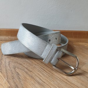 Faux Leather Belt silver-colored-light grey