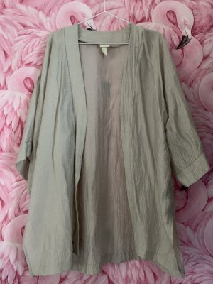 Silberner Kimono aus Crinckle Stoff (H&M Concious Collection)