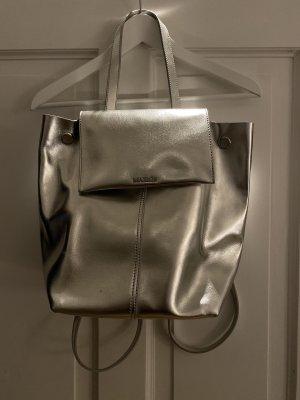 Silberner Lederrucksack von Max&Co