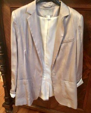 Silberner Oversized Blazer von H&M