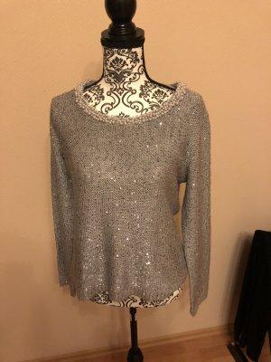 Canda Crewneck Sweater silver-colored