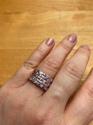 Silberner Ring mit rosa Steinen