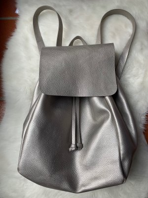 Zara Mochila escolar color plata