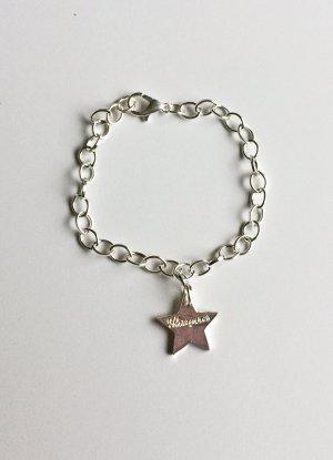 "silbernes Armband mit Stern ""Glamour"", 19 cm lang"