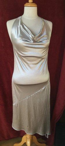 Xanaka Vestido de cuello Halter color plata poliamida