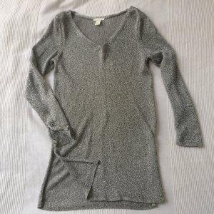 Silbernes langes Oberteil / Kleid