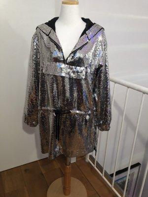 Moschino Robe à paillettes noir-argenté