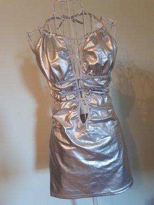 silbernes sexy Kleid