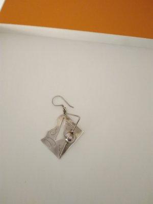 Dangle silver-colored mixture fibre