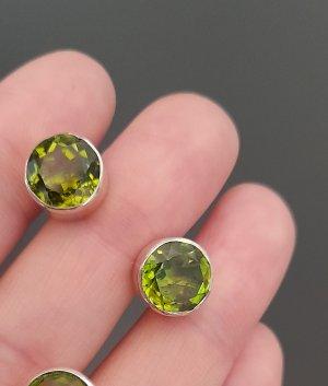 Zarcillo color plata-verde