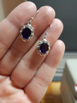 Silver Earrings dark violet-silver-colored