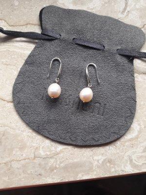 Silberohrringe mit echten Perlen aus Italien