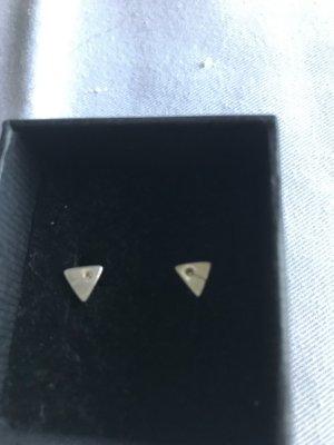 echt Silber 925 Boucles d'oreilles en argent argenté-blanc