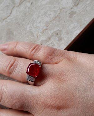Diamonique Srebrny pierścionek Wielokolorowy