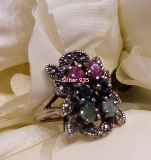 handmade unikat Silver Ring multicolored