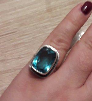 Zilveren ring zilver-lichtblauw Zilver