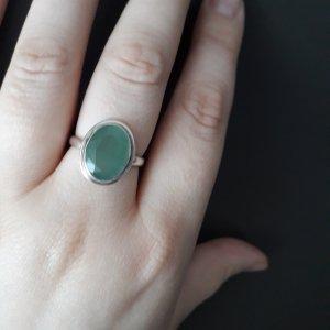 Anello d'argento argento-blu pallido